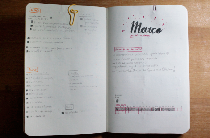 imagem com vista do meu planner com começo e fim de mês