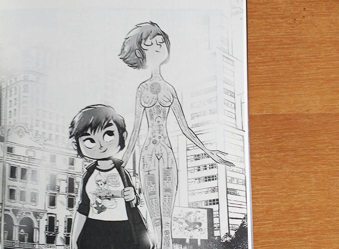 Página mostrando Kipky e Manon andando lado a lado na rua