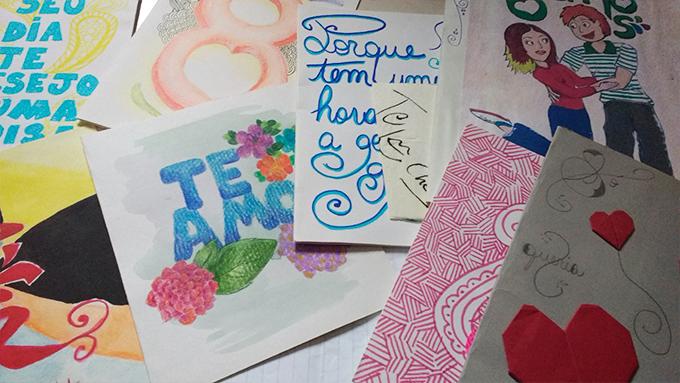 Foto de cartas antigas que mandei pro noivo