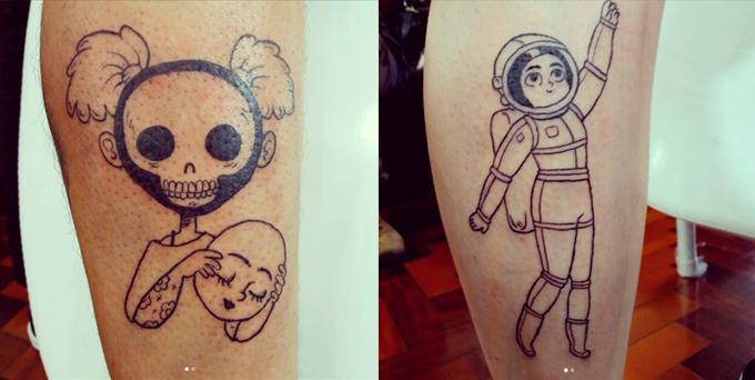 Tatuagens feitas por Samanta Flôor