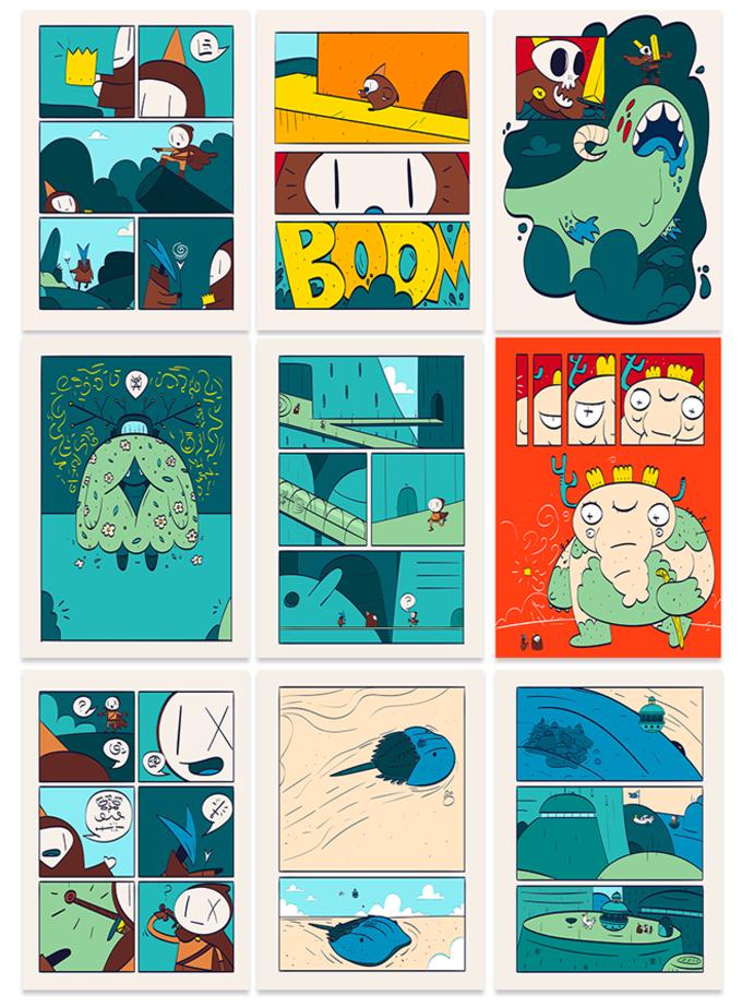 Páginas do quadrinho