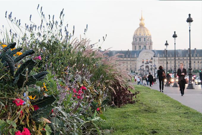 Flores e Invalides ao fundo - viagem França